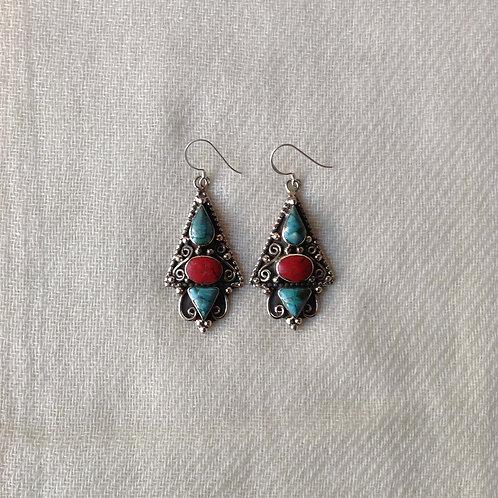 boucles d'oreilles tibétains/tibetan earrings 16