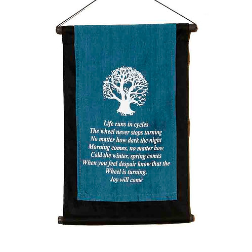 Cree Prophecy Wall-Hanging: Blue