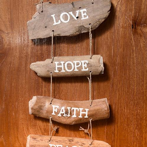 Wooden affirmation: 4 line
