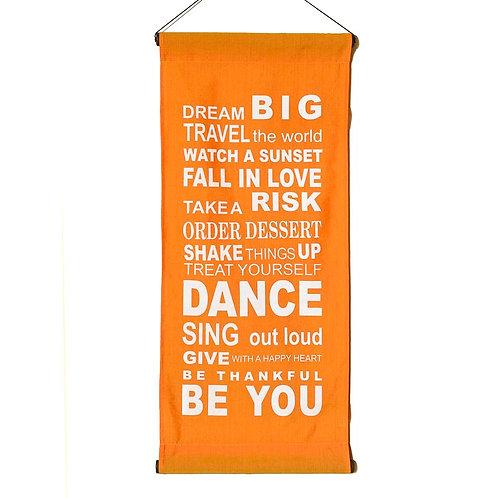 Dream Big Wall-Hanging: Tangerine