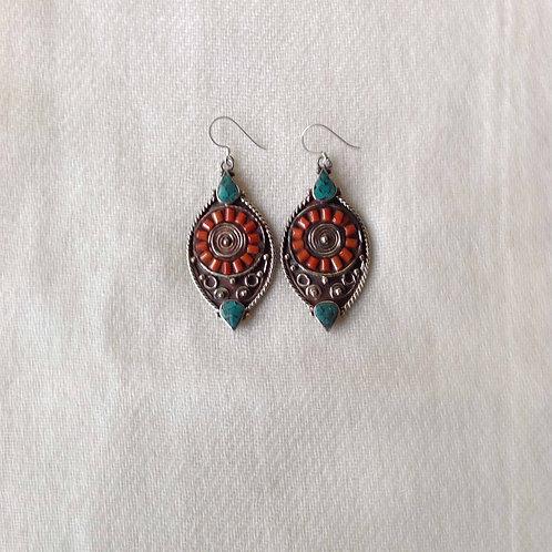 boucles d'oreilles tibétains/tibetan earrings 1