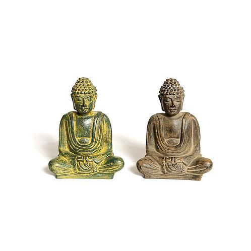 Resin Meditating Buddhas: 14 cm