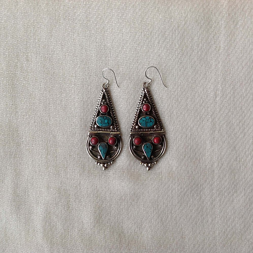 boucles d'oreilles tibétains/ tibetan earrings 6
