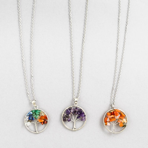 Crystal Tree of Life Necklace C