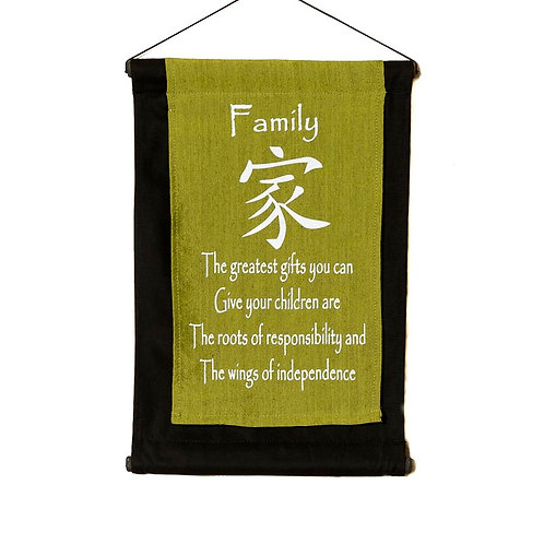 Family Wall-Hanging: Lime