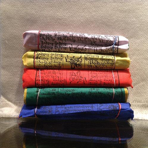 Drapeaux de prières en coton (m)/ Cotton prayer flags (m)