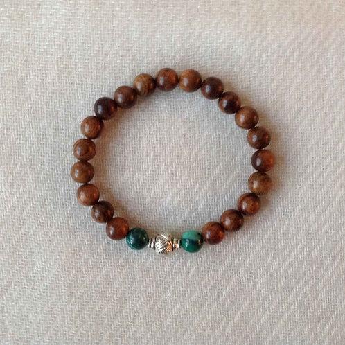 bracelet-mala (bois de rose/rosewood)