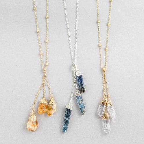 Crystal 3 Spar Necklace