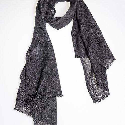 """Cotton """"OM"""" B scarf - Black"""