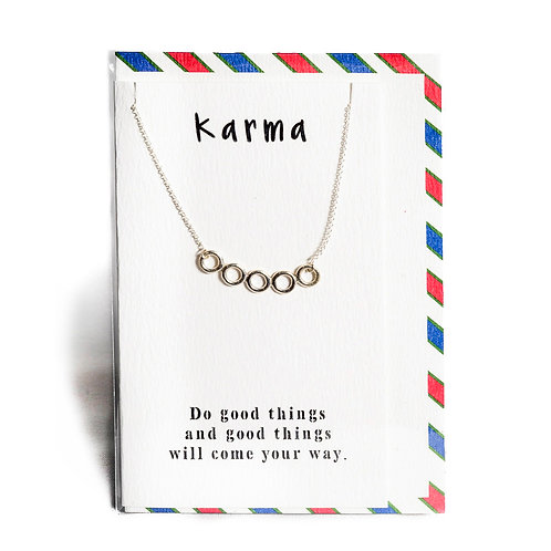 Karma Affirmation Necklace