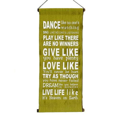 Dance like... Wall-Hanging: Lime
