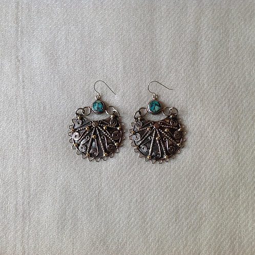 boucles d'oreilles tibétains/tibetan earrings 2