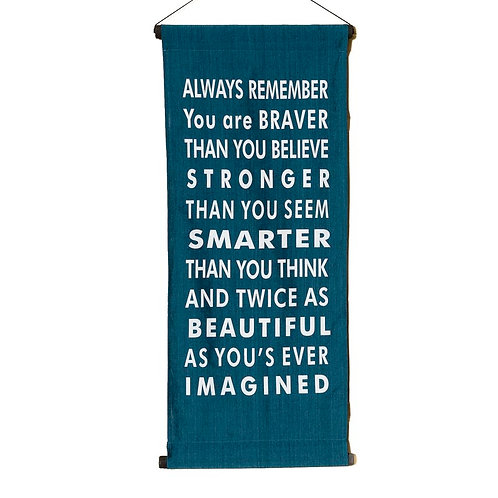 Always Remember Wall-Hanging- Blue