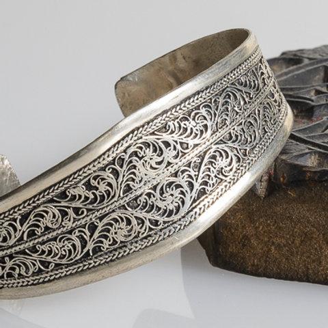 Silver plated filigree Bracelet