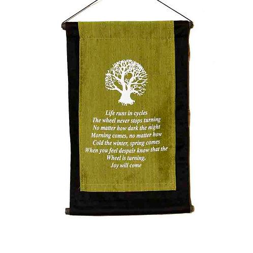Cree Prophecy Wall-Hanging: Lime