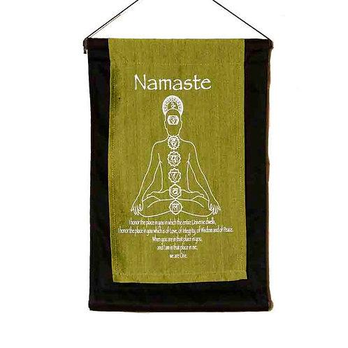 Namaste Wall-Hanging: Lime
