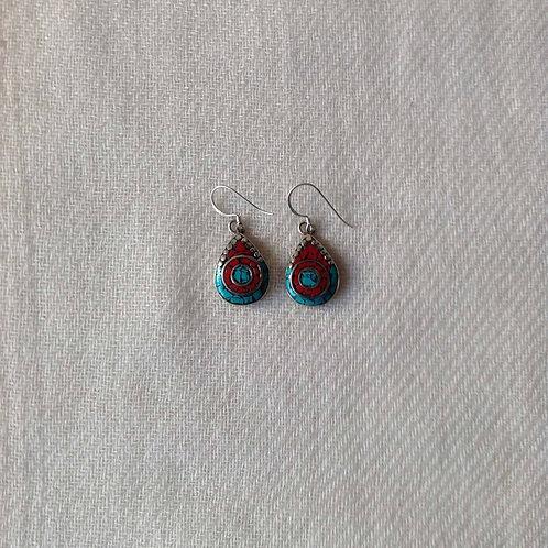 boucles d'oreilles tibétains/tibetan earrings 3