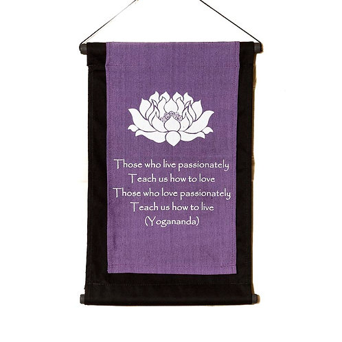 Yoga Wall-Hanging: Violet