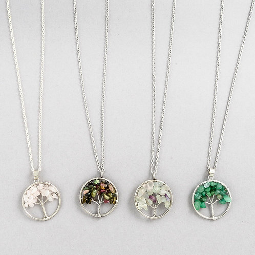 Crystal Tree of Life Necklace B