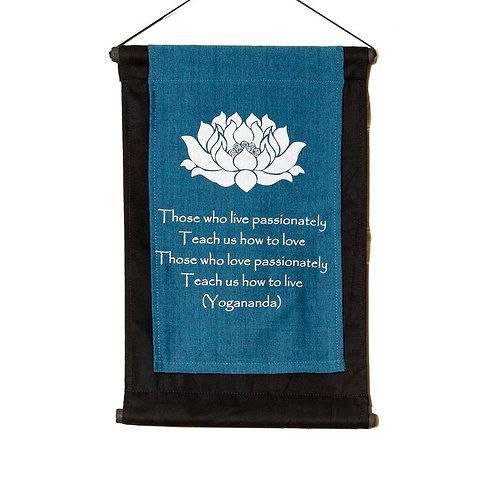Yoga Wall-Hanging: Turquoise