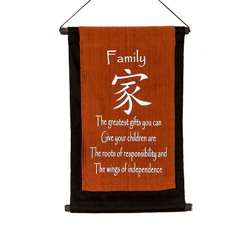 Family Wall-Hanging: Copper