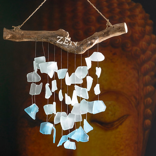 "Beach glass chimes: ""Zen"" ( Small)"