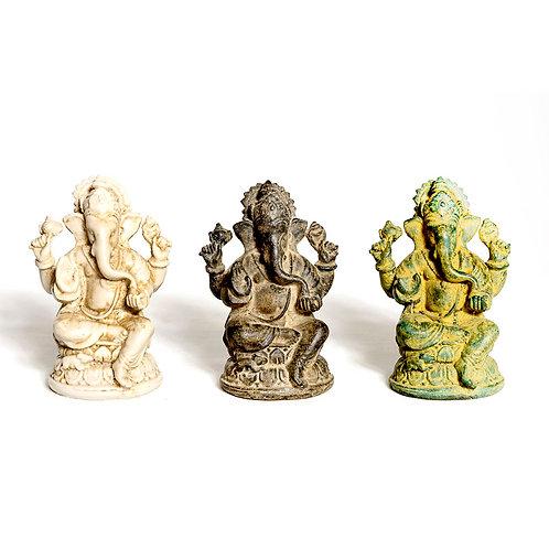Resin Sitting Ganapati 12 cm