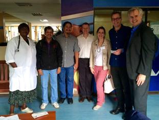 Boris visits University Teaching Hospital in Lusaka, Zambia