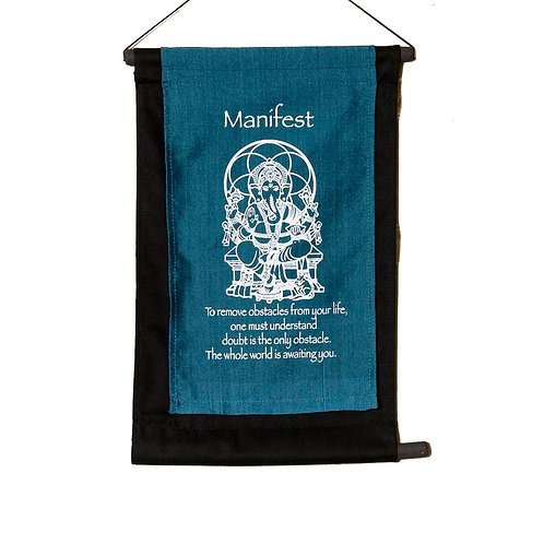 Manifest Wall-Hanging: Blue