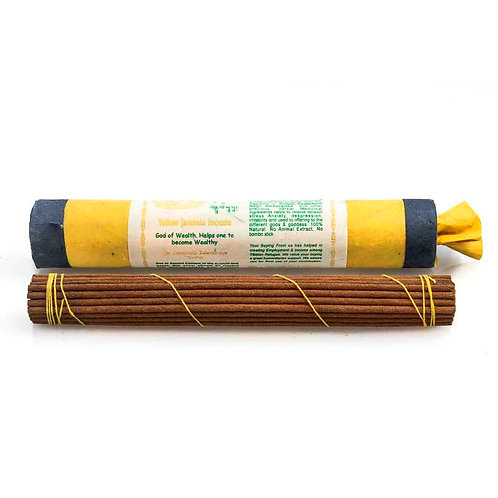 Tibetan Yellow Jambala Incense: Long