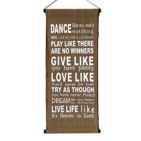 Dance like... Wall-Hanging: Brown