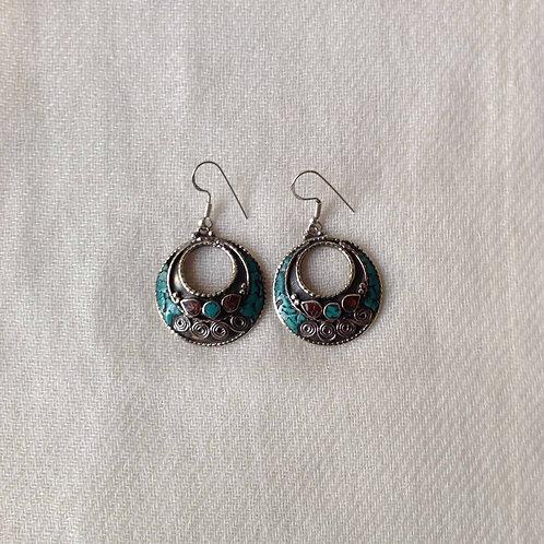 boucles d'oreilles tibétains/tibetan earrings 13