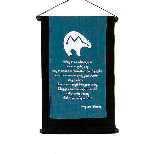 Apache Blessing Wall-Hanging: Blue