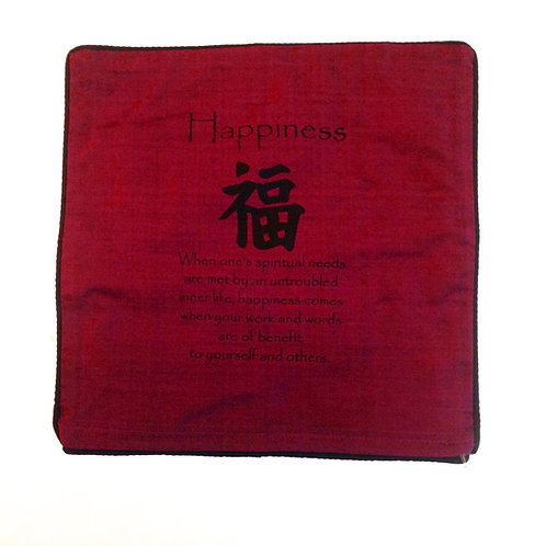 """Cushion Cover-""""Happiness"""""""