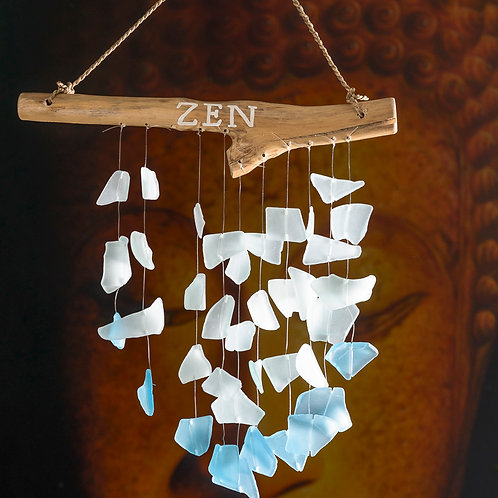 "Beach glass chimes: ""Zen"" (Small)"
