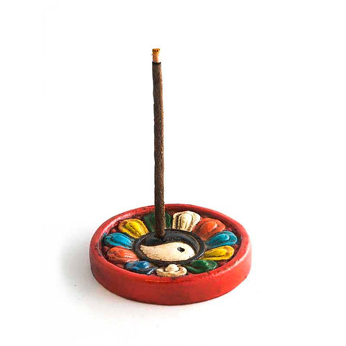 Clay Yin Yang incenses holder