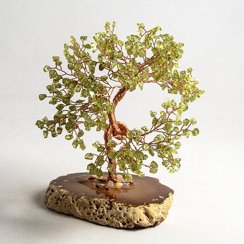 Peridot stone tree