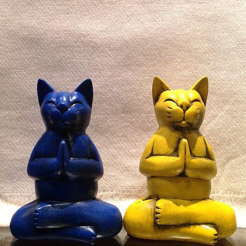 Lotus chat en prière/Lotus praying cat (m)