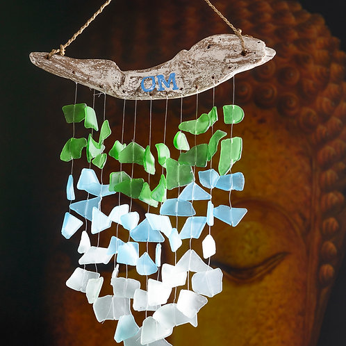 "Beach glass chimes: ""Zen"""