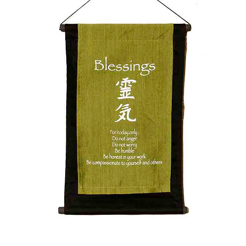 Blessings Wall-Hanging: Lime