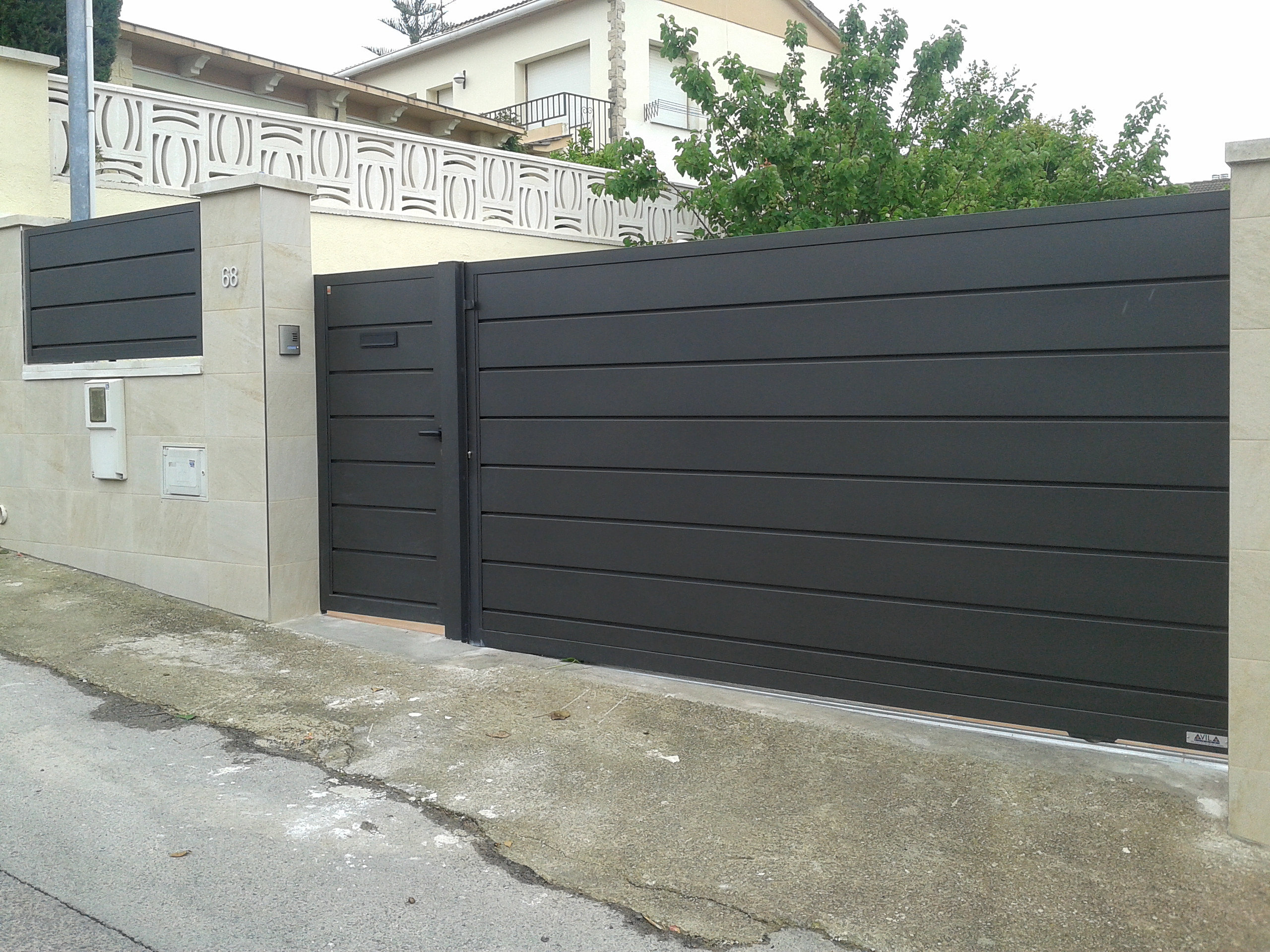 Puertas avila puerta corredera - Puerta corredera exterior ...