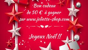Bon Cadeau de  50 €  à GAGNER !!
