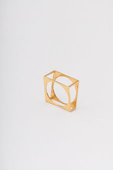 ring minimalism gold plated