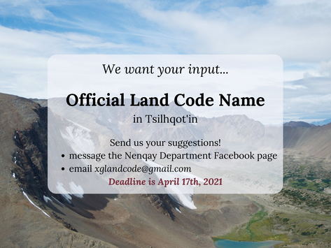 Call for Official Land Code Name