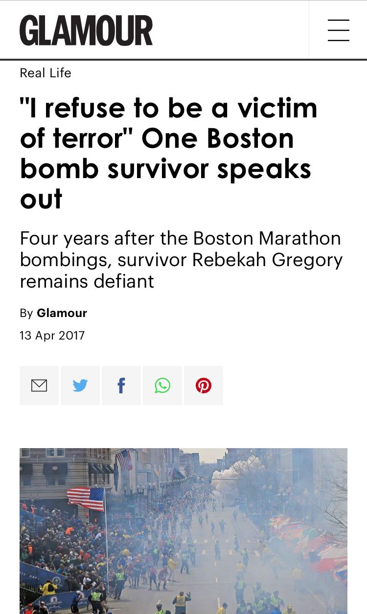 Boston Marathon survivor real-life