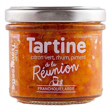🇫🇷  TARTINE CITRON VERT, RHUM, PIMENT À LA RÉUNION 110g