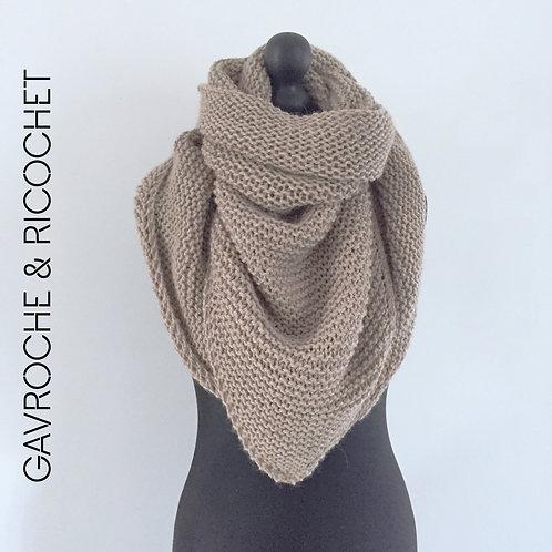 Trendy-châle en alpaga et en laine - Chameau