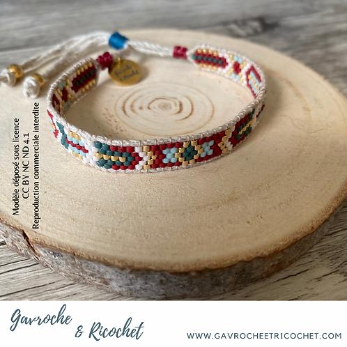 Bracelet Pocahontas au chanvre naturel