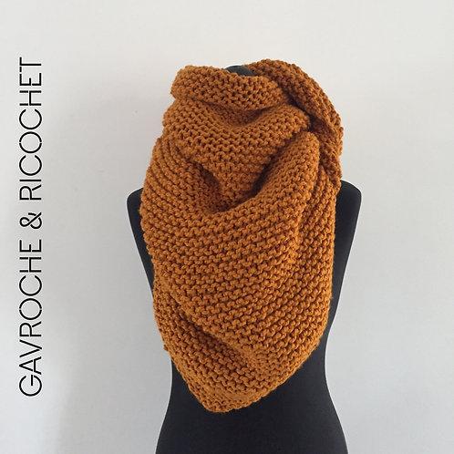 Trendy-châle en laine acrylique - Moutarde