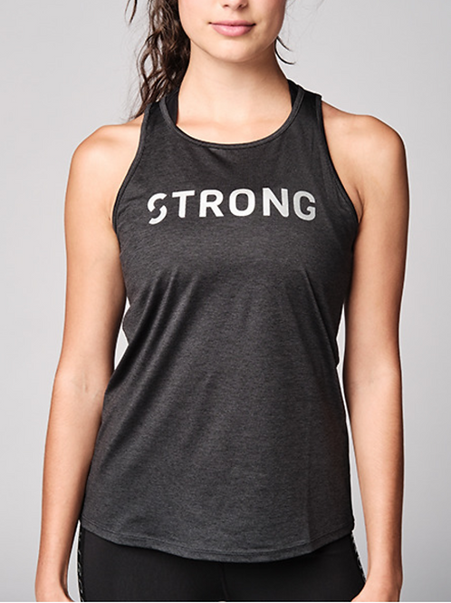 Black Cut Out Knit Power Tank